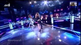 The Voice Of Greece Battles Έλενα Στρατηγοπούλου vs Κατερίνα Λιόλιου (Wrecking Ball) {14/3/2014}
