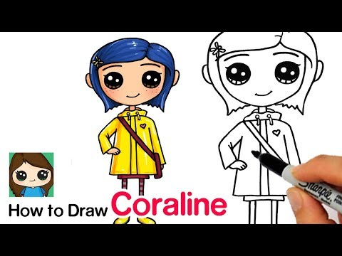 How To Draw Coraline Easy Youtube