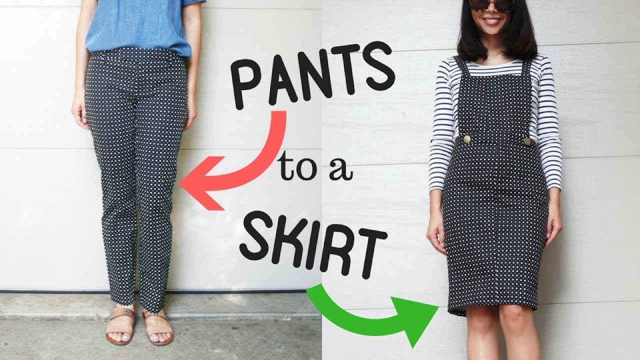 DIY: TROUSER TO OVERALL/BIB DRESS REFASHION || How to ...
