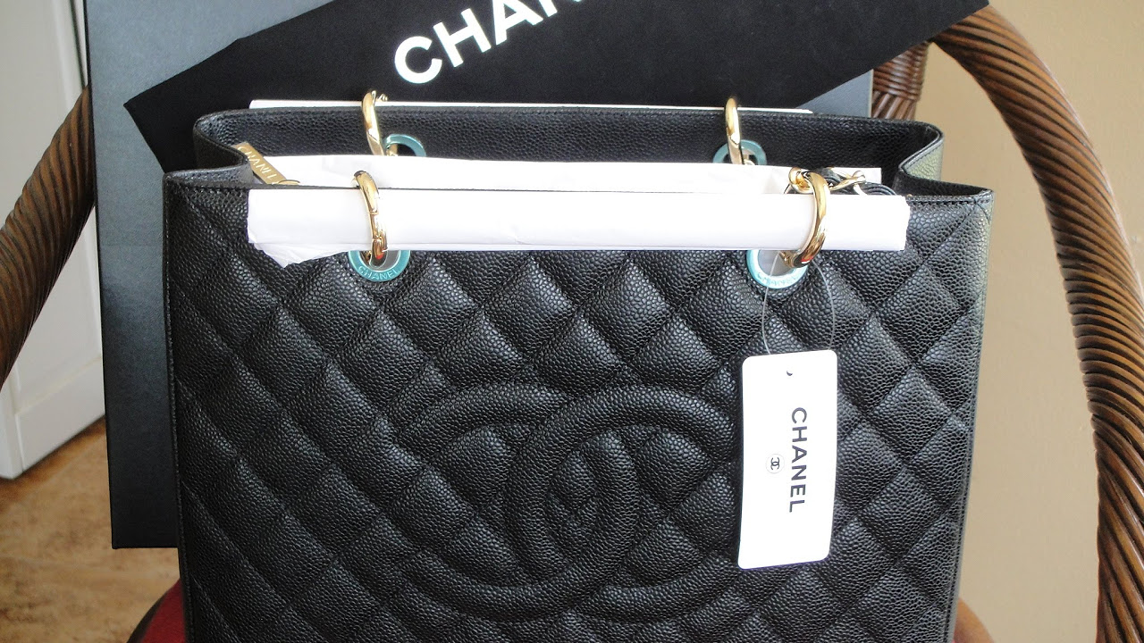 a7f6d4bb35513e Unboxing of My New Chanel GST-Grand Shopping Tote - YouTube
