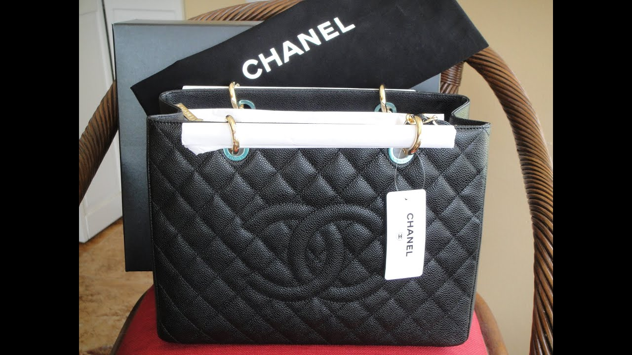 e8317dd62169 Unboxing of My New Chanel GST-Grand Shopping Tote - YouTube