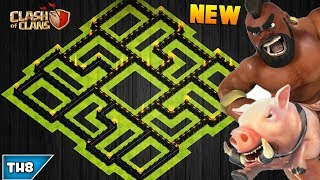 NEW TOWN HALL 8 FARMING/TROPHY BASE 2017! TH8 HYBRID BASE AUGUST UPDATED!! - CLASH OF CLANS(COC)