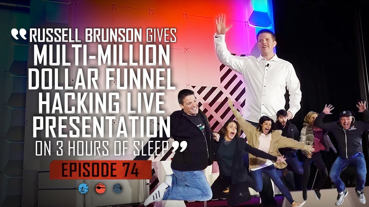 Russell Brunson Gives A Multi-Million Dollar Funnel Hacking -Live Presentation On 3 Hours Of Sleep!