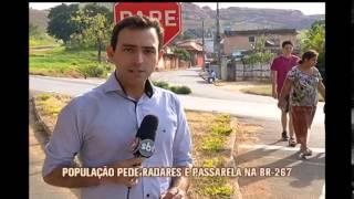 População de cidade cortada pela BR-267 cobra instalação de radares e passarelas