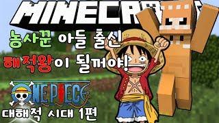Gambar cover 농사꾼의 아들이지만! 난 해적왕이 될꺼야! [ 원피스 악마의열매 모드 상황극 1#] MineCraft One Piece mod -[카몬]