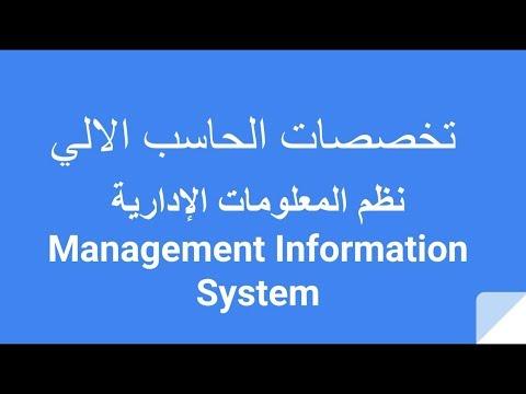 تخصصات الحاسب الالي: نظم المعلومات الإدارية Management Information System