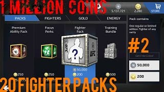 EA SPORTS UFC Mobile - 1 Million Coins! 20 Fighter Pack Opening! #2