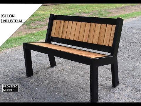 SILLON DE JARDIN ESTILO INDUSTRIAL - PROYECTO MUEBLE - (garden bench, industrial style)
