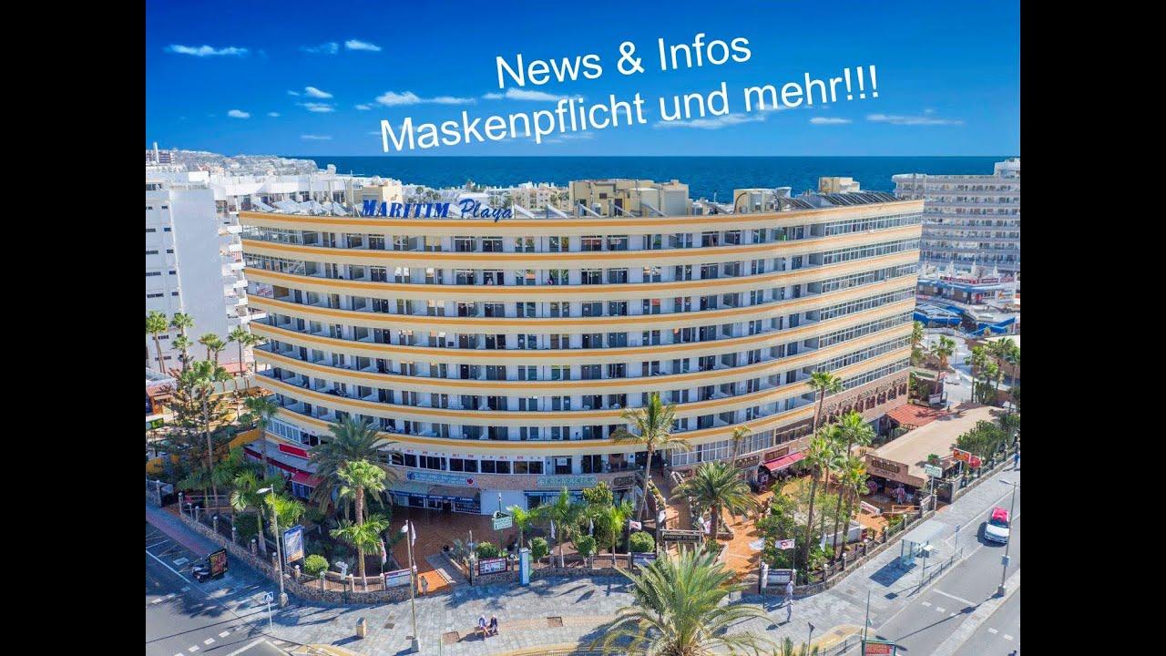 Download News und Info zur Maskenpflicht - Gran Canaria - Hotel Maritim Playa 18/08 /20 - Playa del Ingles