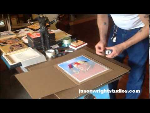 How to ship prints, or how I ship them - YouTube