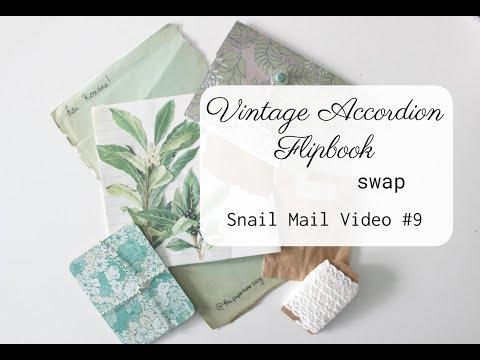 Accordion Folder In Vintage Botanical Theme | Snail Mail Video #9