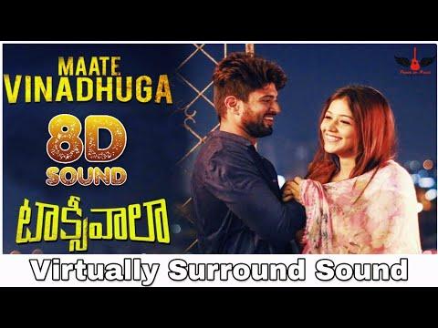 Maate Vinadhuga | 8D Audio Song | Taxiwaala | Vijay Devarakonda | Sid Sriram 8D Songs