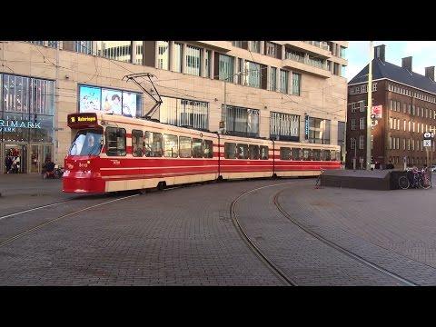 HTM GTL8 rond Centraal Station & Centrum te Den Haag | 4 maart 2016