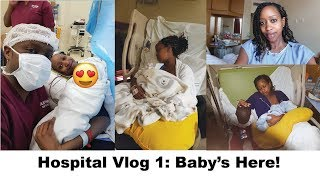#MyFirst28Days Part 1/4: Baby's here! Hospital Vlog| Breastfeeding