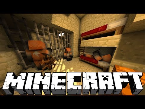Escape From Prison - Minecraft Roleplay - Find The Button ( Story )