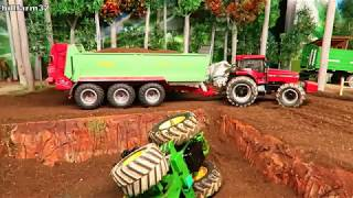 Rc Tractor ACCIDENT & RECOVERY on the farm 🤠🚜👍 Funny Toy farming video