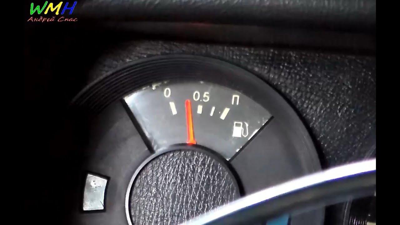 Тест приборной панели BMW E36. Проблема со стрелкой уровня топлива .