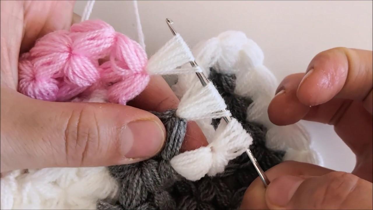BU MODEL BİR BAŞKA GÜZEL OLDU :) YENİ YUVARLAK LİF MODELİ    How to make knitting easy