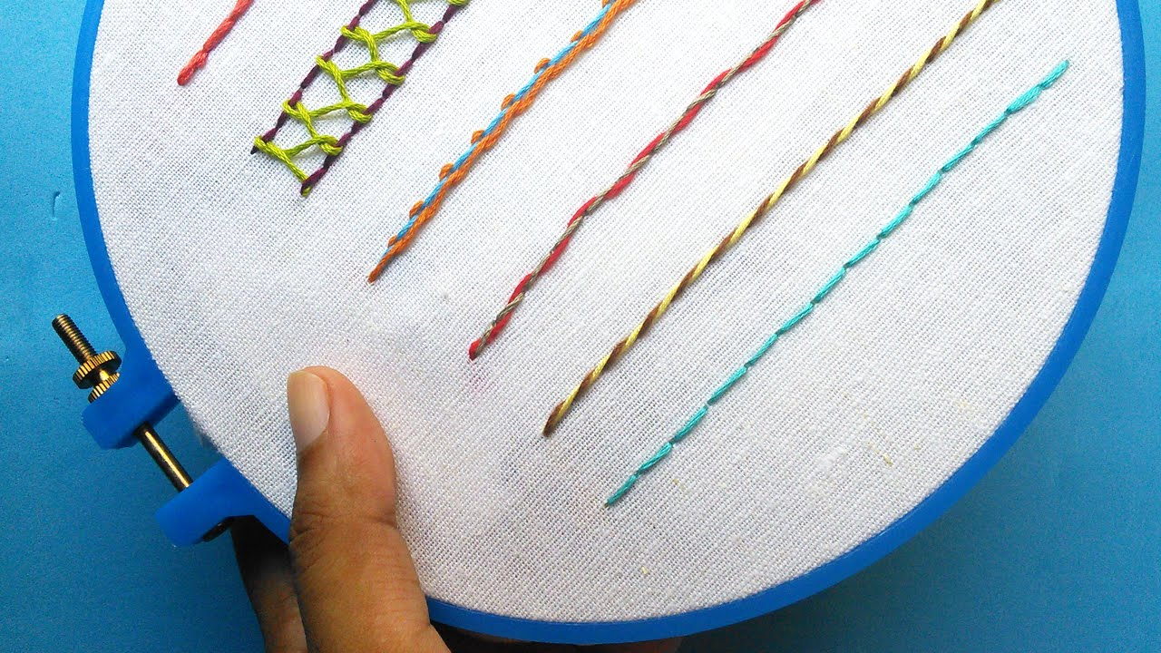 Hand embroidery for beginners part back stitch