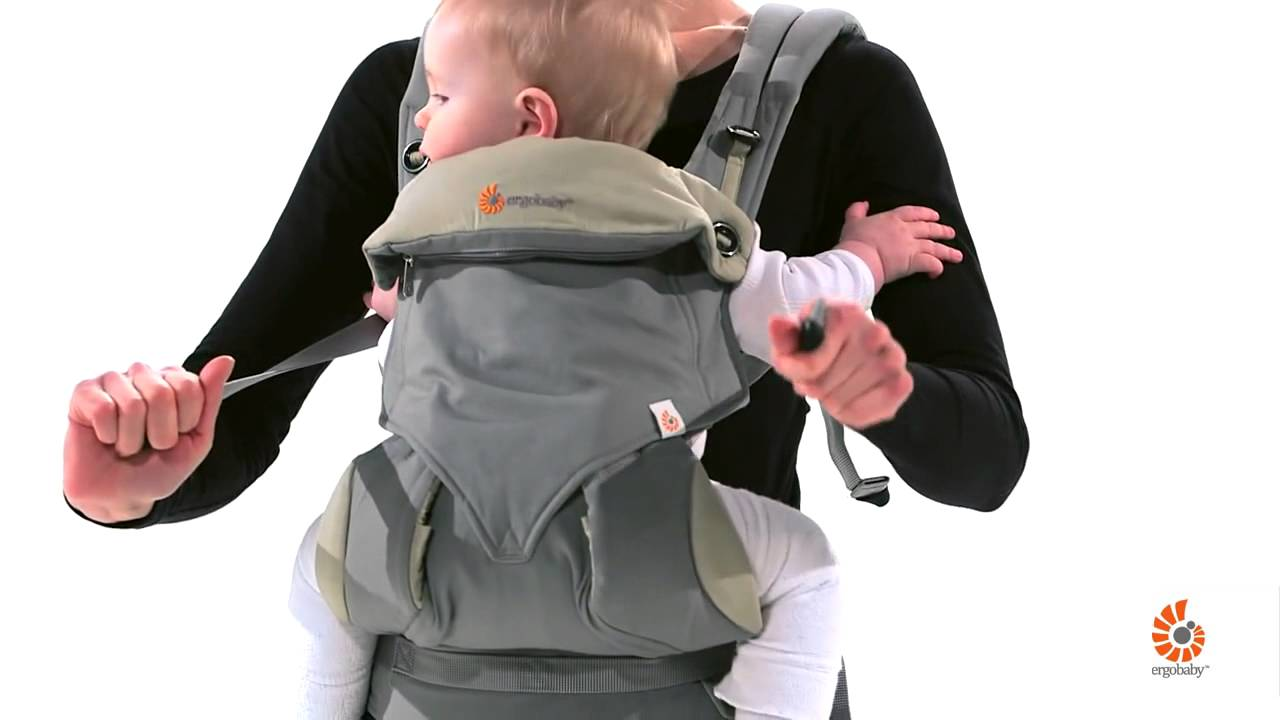porter bebe en position ventrale dans le porte bebe ergobaby