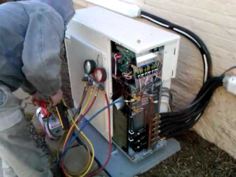 mitsubishi mr slim heatpump startup part1  YouTube
