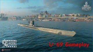 World of Warships U-69 Max Graphics Gameplay