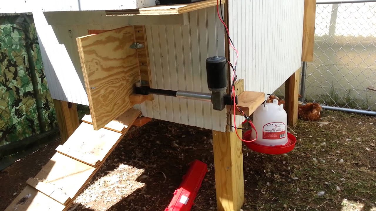 Chicken Coop Door Closer Youtube