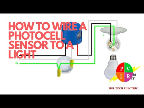 How To Wire A Photocell To Light How To Wire Photocell Sensor How To Connect A Photocell Youtube