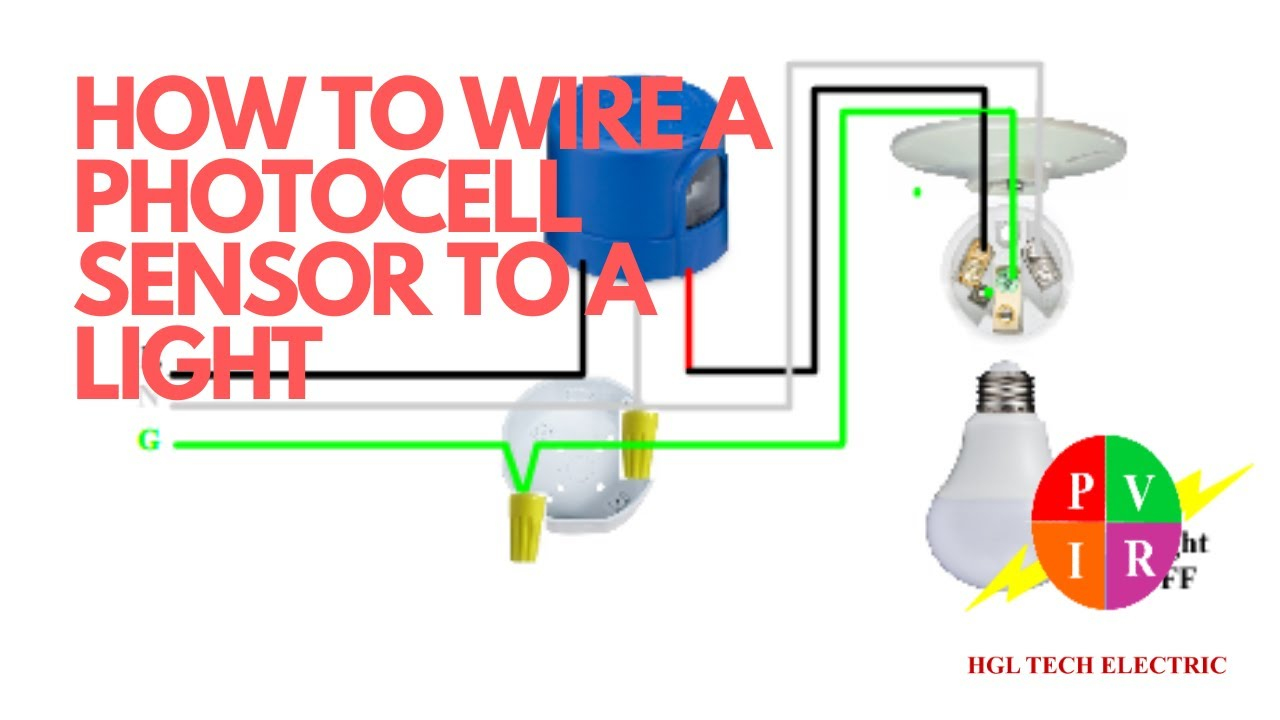 How to wire a photocell to light. How to wire photocell sensor. How to  connect a photocell. - YouTube | Porch Light With Photocell Wiring Diagram |  | YouTube