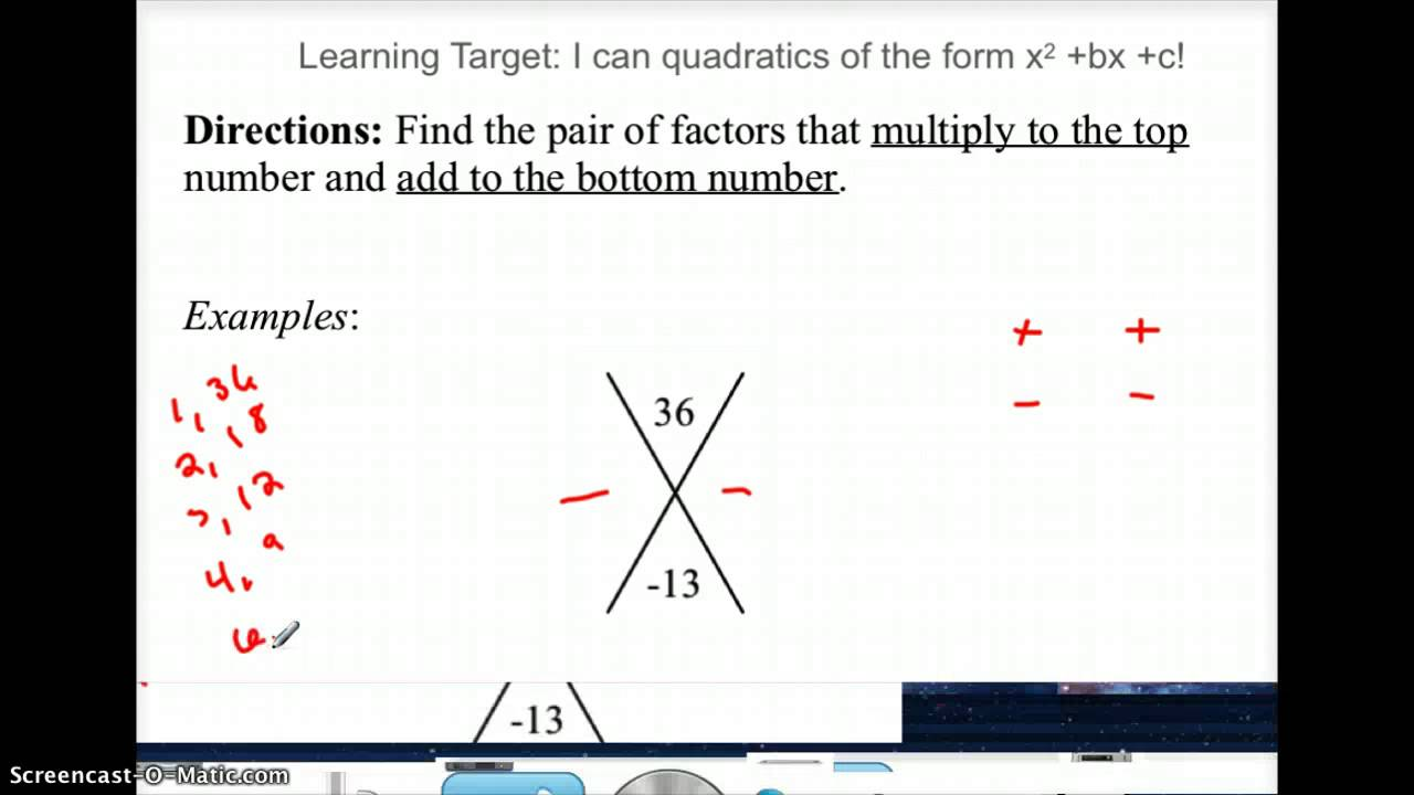Factoring With X Puzzle Youtube