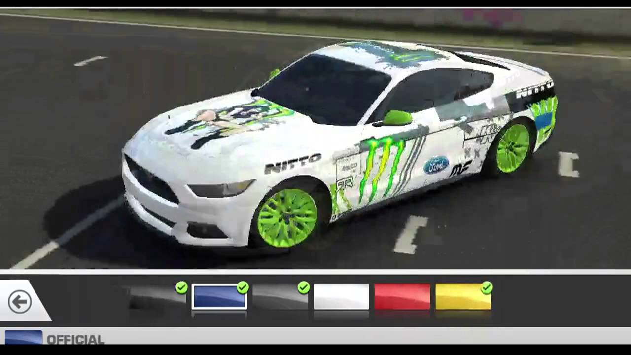 Real racing 3 2015 ford mustanggt skinmod monster girl