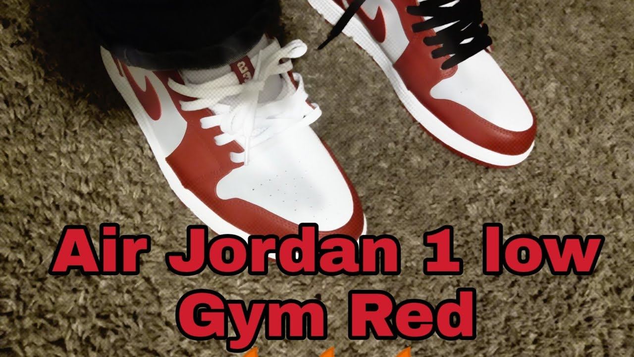 Air Jordan 1 Low Gym Red On Feet Review Youtube