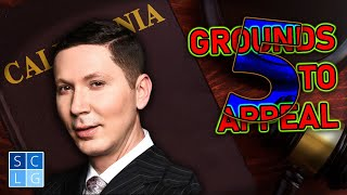 """5 common grounds to """"appeal"""" a criminal case"""