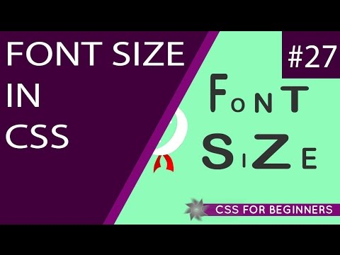CSS Tutorial For Beginners 27 - Font Size