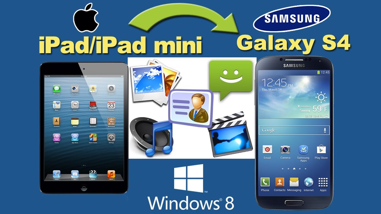 IPad To Galaxy S4: Transfer Videos,Contacts From IPad Or