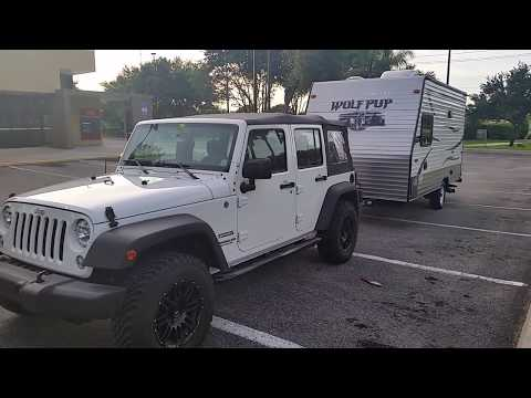 Jeep wrangler towing Travel Trailer