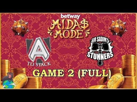 TI3 [A]lliance Vs Sir Sadim Stunners EU Grand Finals Game 2 - Betway Midas Mode 2