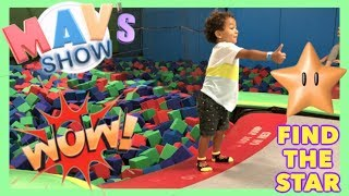 TODDLER PLAYING ON TRAMPOLINE   KIDS BOUNCE FUN EXERCISE