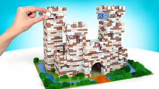 Assemble Big Castle From Bricks WITHOUT GLUE or MORTAR!