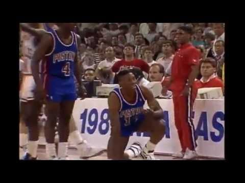 Pistons-Bulls (1989): All Cheap Shots, Altercations, and Techs