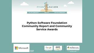 Ewa Jodlowska - PSF Report & Community Service Awards - PyCon 2018