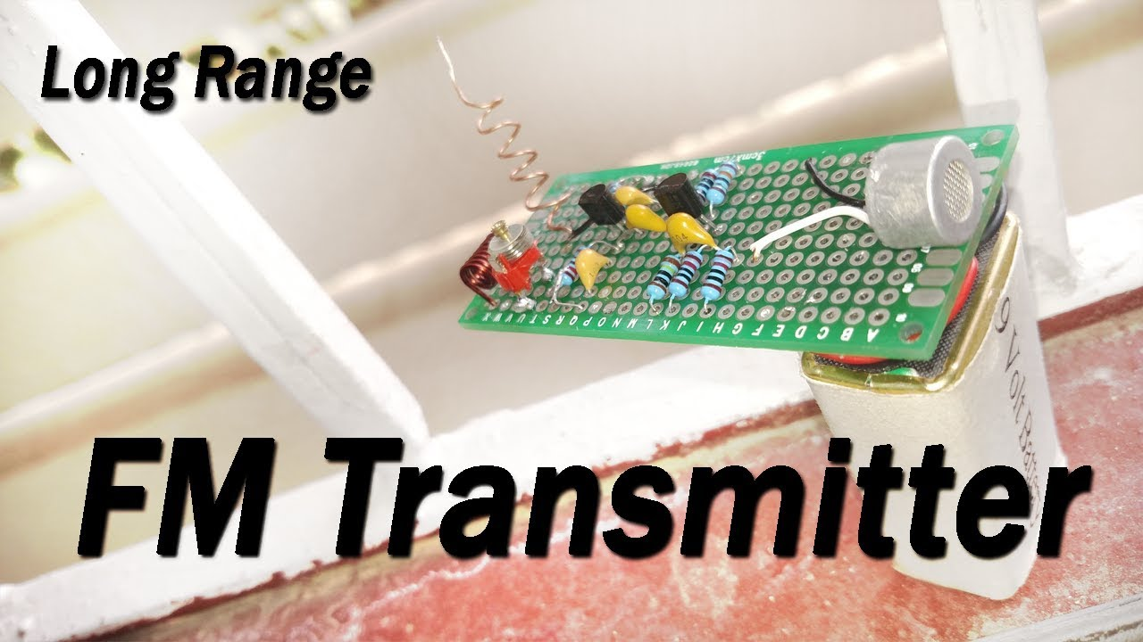 Fm Transmitter Circuit Long Range 500m Weekend Projects Youtube Simple 9v Diagram