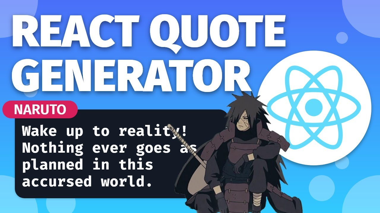 Build a Quote Generator in REACT JS | A React JS Beginner Project
