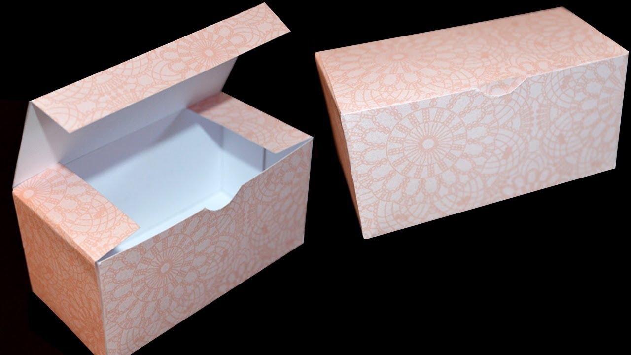 How to Make a Gift Box - DIY Paper Box - YouTube