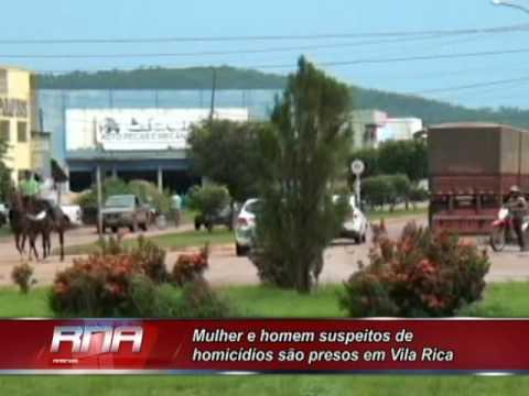 Mulher e homem suspeitos de homicídios são presos em Vila Rica