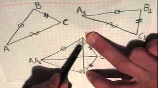 Третий признак равенства треугольников 1е доказательство