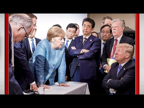 Trump's strained relationship with Angela Merkel and G7 leaders