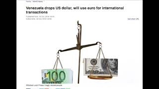 Venezuela drops US dollar, will use euro for international transactions