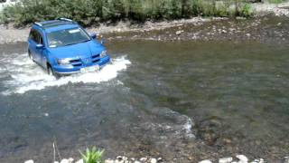 Mitsubishi AirTrek - Test drive in the river