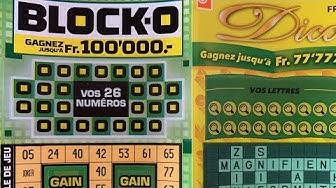 Loterie suisse romande avec 2 tickets un dico et un bloko tout en o